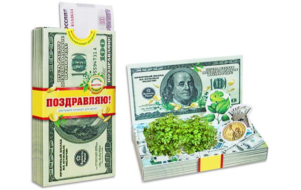 Конверт для денег. Доллар.