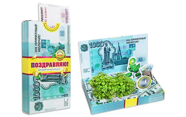 Конверт для денег. Рубль